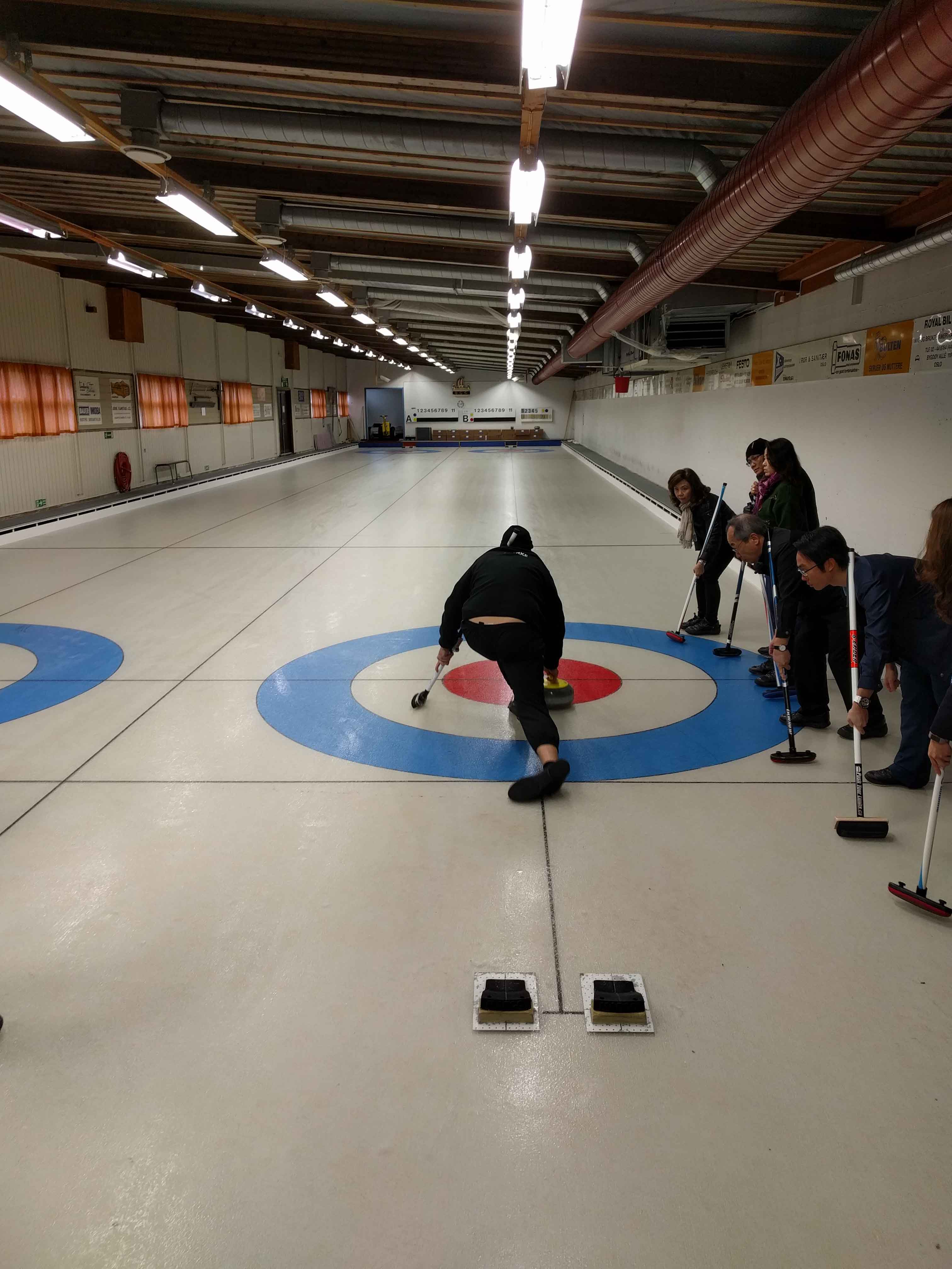 Curling instruksjon event